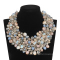 Big Luxury Full of Glass Beads in Colorful Necklace (XJW13605)