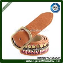 Ceinture New Design Belt / Fashion en cuir / ceinture de cuir pour femme / ceinture Lady Beaded en cuir de mode
