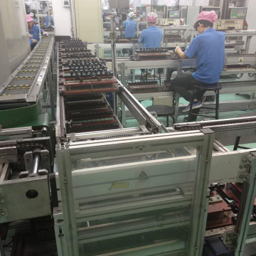 ເຕົາແກ໊ດ DVD Chain Conveyor Assembly Line
