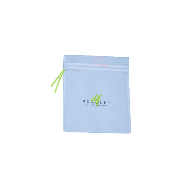 Satin Fabric Zipper Plain Bags For Cosmetic