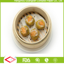 152mm Round Non-Stick Silicone Coated Steaming Paper for Food Cooking