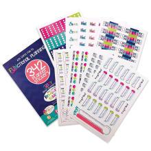 Hebdomadaire Mensuel Calendrier Autocollants Imperméable PVC Autocollant Planificateur Décoratif Personnalisé Planner Sticker Pack