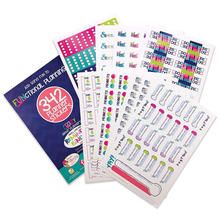 Weekly Monthly Calendar Stickers Waterproof PVC Sticker Custom Decorative Planner Sticker Pack