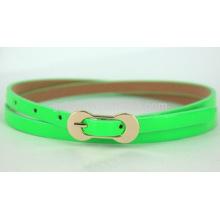 kids fashion fluorescence green col PU belt