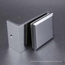 High Quality Floor Mounted Aspen Square Glass Holder Clamp Clip with Bevelled Edge