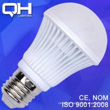 White Texture Hard Fixture LED Bulb 9W SMD 5730 Aluminium