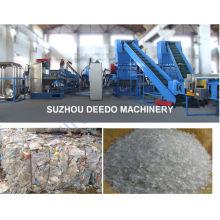 Nettoyage de bouteille de coke d'animal familier écrasant la chaîne de production de réutilisation