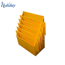 Support jaune de CD de table de couleur pour le détail, support d'affichage d'accessoires