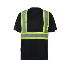 Chemise de sécurité à manches courtes à haute visibilité