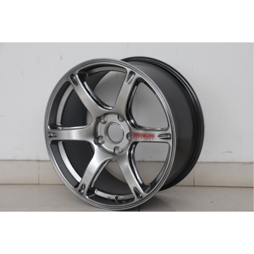 6Spoke Replica in lega di alluminio completamente nera