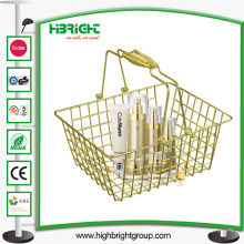 Lojas de cosméticos de supermercado Golden Wire Shopping Basket