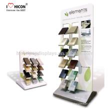 Showroom Doppel-Side-Quarz-Stein Keramik-Bodenfliesen Einzelhandel Metall-Display-Racks Mit In-House-Design und Fertigung