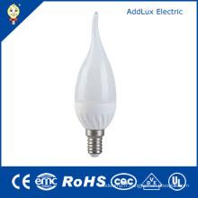 Éclairage blanc frais de bougie de la LED 3W E14 de Dimmable d'Energy Star