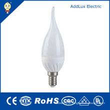 Luz branca fresca da vela do diodo emissor de luz da estrela da energia Dimmable 3W E14