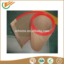 Made in taixing China supplier ptfe coated Fiberglass fabric mesh Conveyor Belt with nose bulk connection