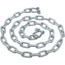 Cadena de enlace larga estándar doble galvanizada en caliente modificada para requisitos particulares de fábrica