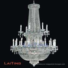 Las lámparas grandes cristalinas del nuevo estilo moderno del diseño con plata del hierro acabaron, OEM dado la bienvenida