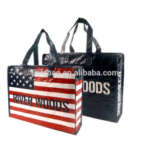 pp woven cheap travel luggage bags