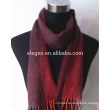 100% cachemira hilo teñido de rayas bufanda