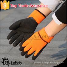 SRSAFETY 2016 зимние защитные перчатки / пенная латексная перчатка / оранжевые перчатки