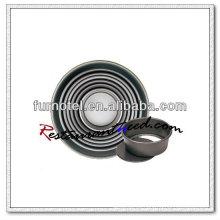Pan de budín de base suelto anodizado con aleación de aluminio V377