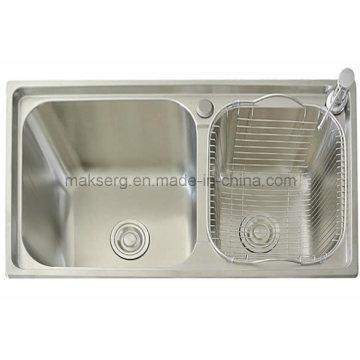 Stainless Steel Handmade Double Basins Kitchen Sink