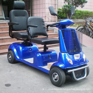 Scooter de movilidad de 2 plazas para discapacitados y ancianos (DL24800-4)