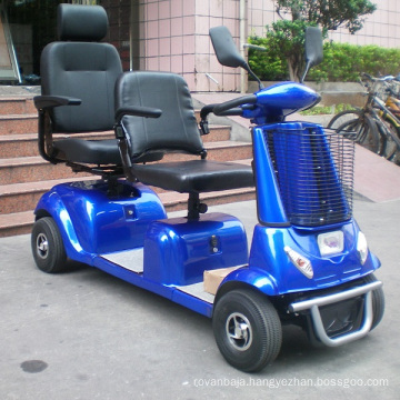 Two Seat Heavy Duty Mobility Scooter with Shield (DL24800-4)