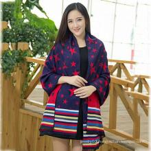 2015 New Design winter Lady star pattern fashion Scarf