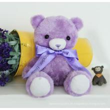 Kinder Spielzeug Geschenke Schöne lila Farbe Plüsch Teddybär Spielzeug