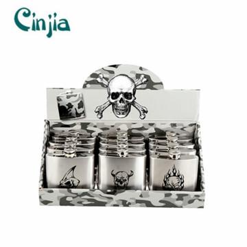 Neue menschliche Skeleton Design Serie Wein Hüftkolben Set