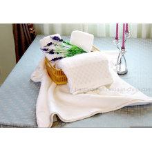 Гостиничное полотенце, 100% хлопок 16s / 1, 21s / 2, 32s / 1, однотонное, жаккард, кайма Добби, вышивка