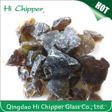 Rocas de cristal decorativas del hoyo del fuego coloreadas grises