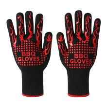 Fabrik Preis Aramid Topflappen, 500 Grad Extreme Hitzebeständige BBQ Grill Ofen Handschuhe