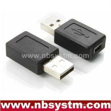 USB Um adaptador macho para mini fêmea de 5 pinos