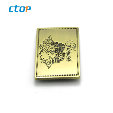High grade popular beautiful gold custom low price excellent quality metal logo label tag metal logo for bags