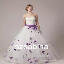Vestido de noiva strapless vestido de flor PD10032