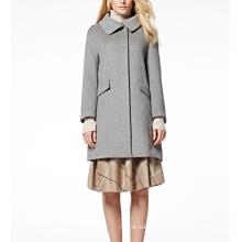 17PKCSC010 women double layer 100% cashmere wool coat