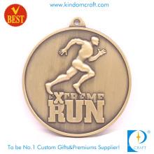 Fourniture d'une médaille de marathon 3D à l'estampe en cuivre personnalisée de haute qualité au prix d'usine