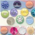 Novo design moda grande giro poliéster botões por atacado
