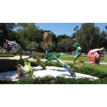 сад украшения металл ремесло современных цветочных скульптур для продажи