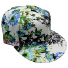 Snapback Cap with Floral Fabric Sb15125