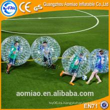 Bola al aire libre de la burbuja del fútbol de la burbuja del tpu de la mitad del color / bola inflable del golpeador