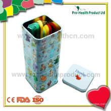 Medizinischer Einweg-Steril-Plastikzungen-Depressor mit Zinn-Box
