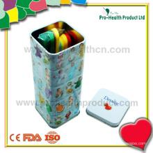 Dételeur de languette en plastique stérile jetable jetable médical avec boîte en étain