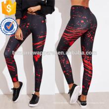 Jambières d'impression abstraite multicolore OEM / ODM fabrication en gros de mode femmes vêtements (TA7038L)