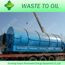 Casa de resíduos de plástico reciclar a máquina a diesel