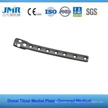 Placa de Plataforma Tibial de Implante Ortopédico de Osso de Trauma de Metal