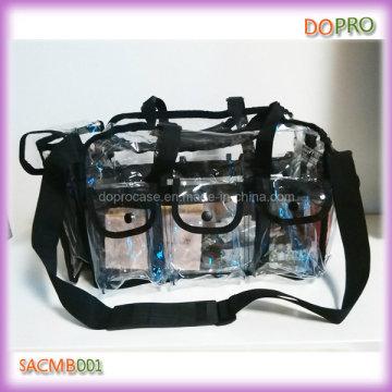 Bolsa de maquillaje profesional de PVC de gran capacidad (SACMB001)