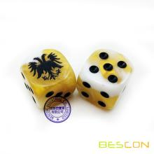 Bescon Custom Engraving Swirl Game Dice 16MM